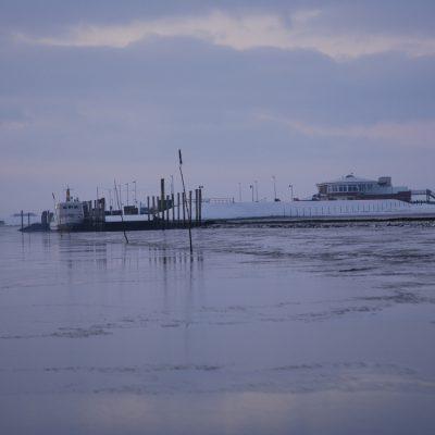 Hafen Neßmersiel im Winter